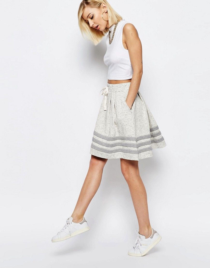 Image 1 of adidas Originals Premium Essentials Minimal 3 Stripe Skirt