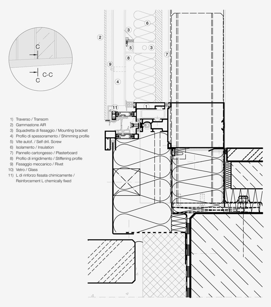 curtain wall gammastone architectural