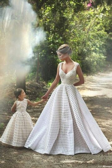 Said Mhamad Mother Daughter Matching Outfits Dresses