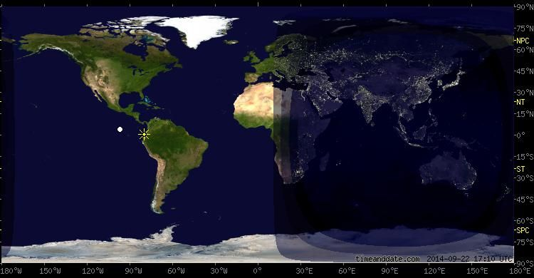 Day And Night World Map on