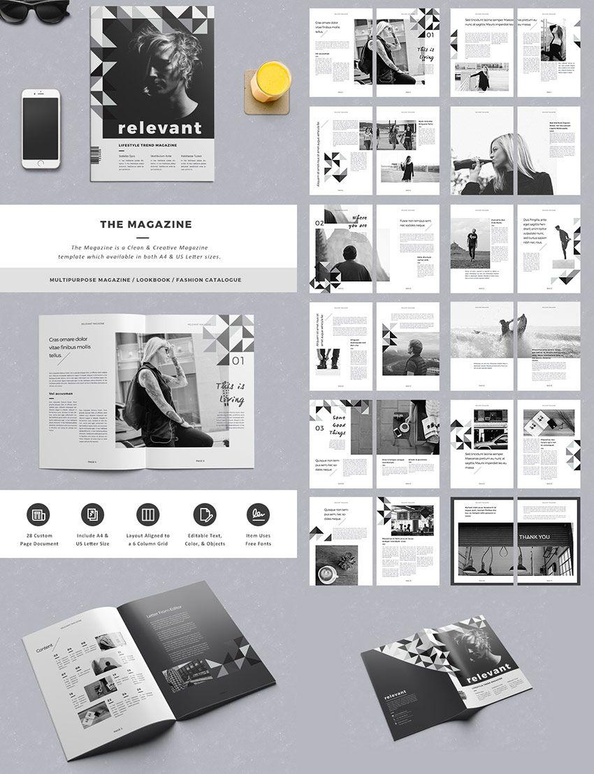 the magazine elegant layout design editorial design inspiration