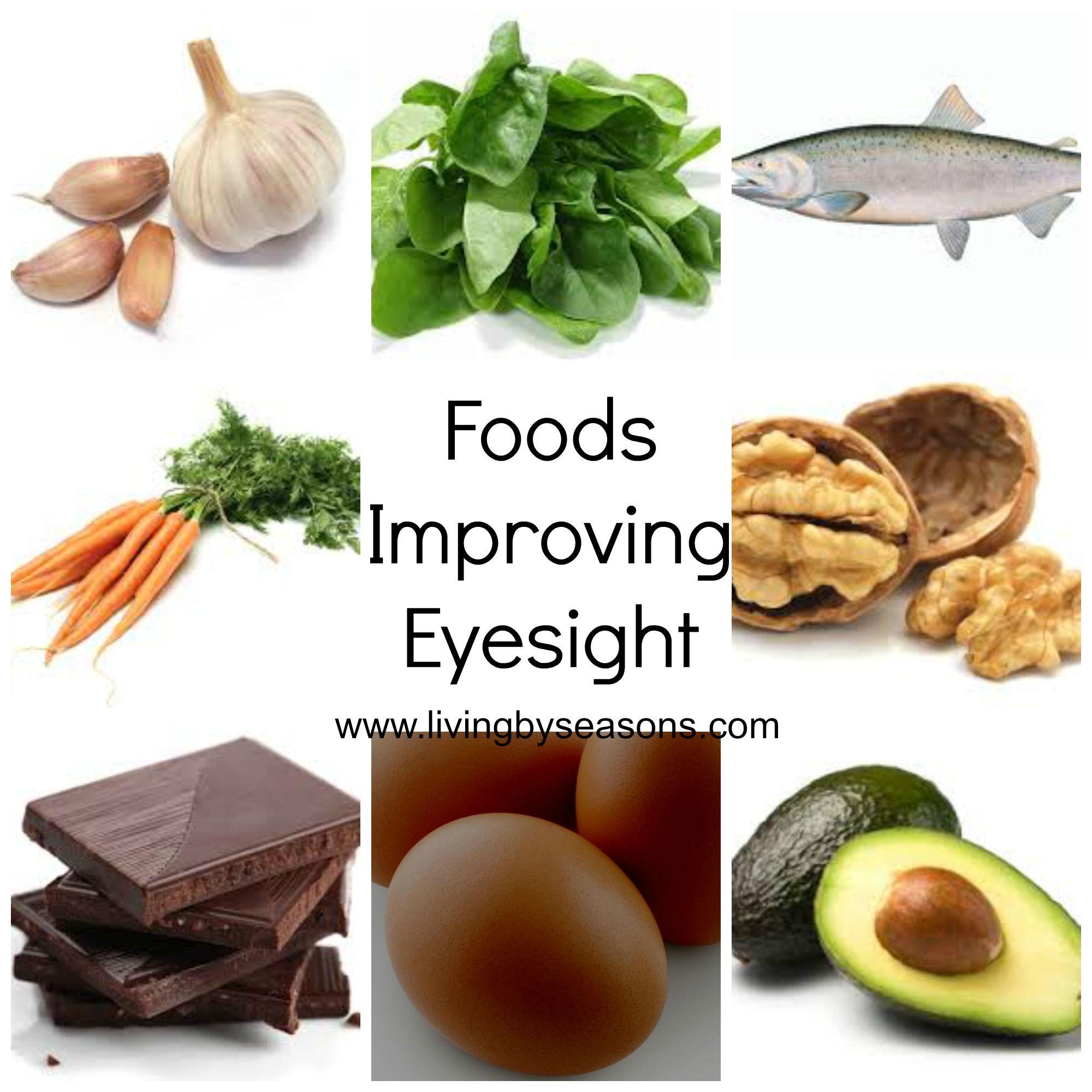 8 Foods That Improve Vision Garlic Fish Carrots