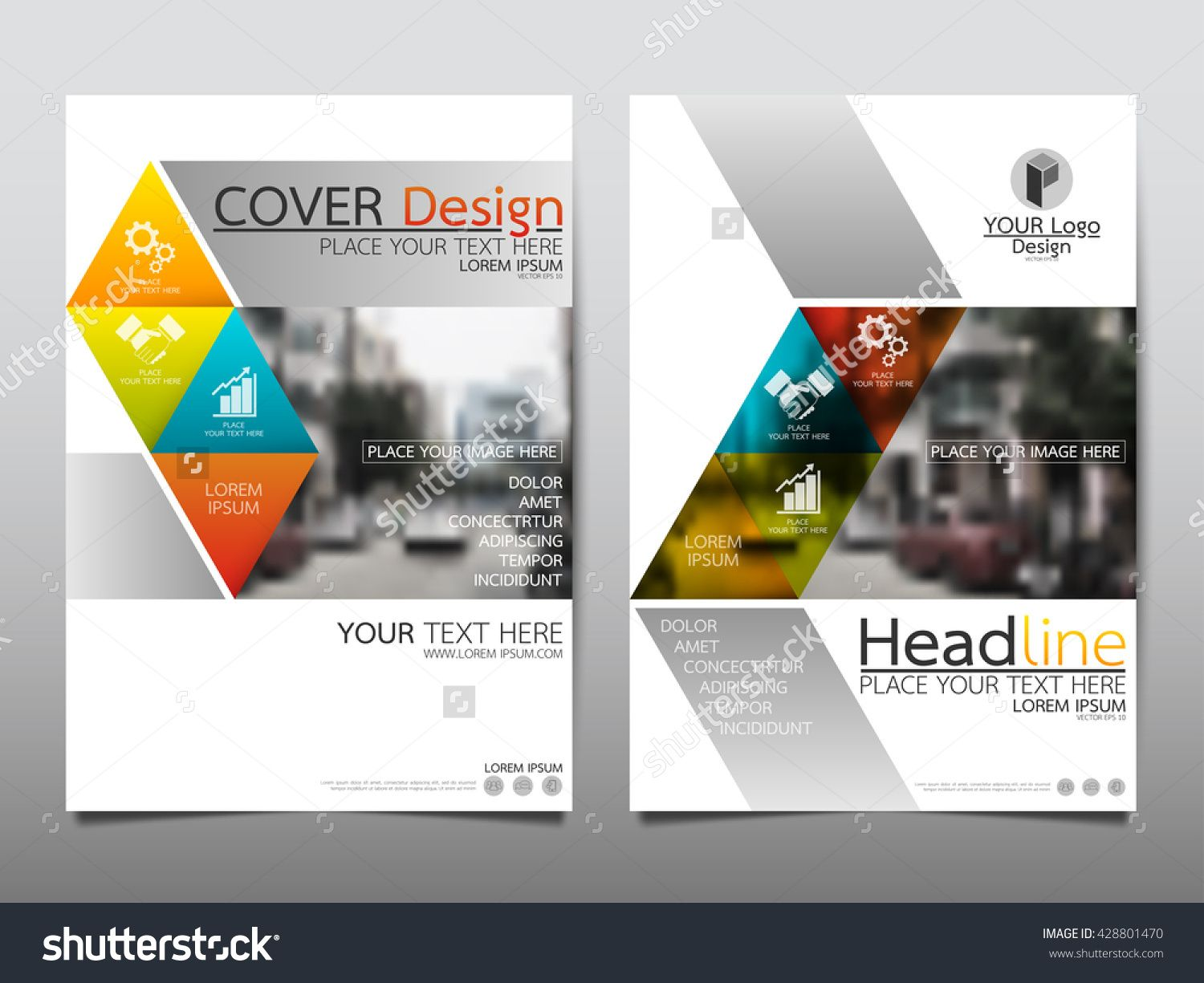 Triangle Technology Annual Report Brochure Flyer Design Template