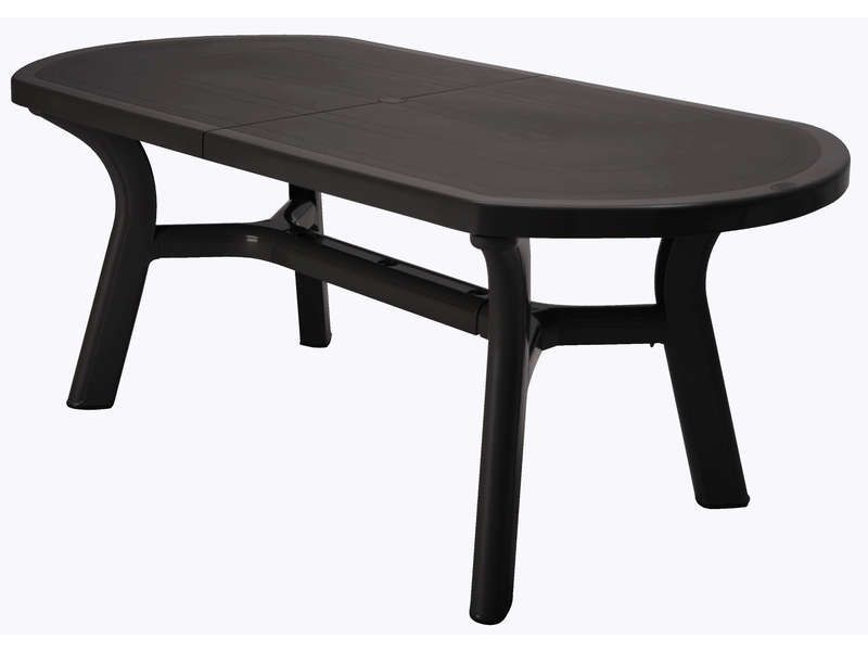 awesome Table de jardin 90x180 cm PAGODA coloris anthracite - Conforama Tables De Cuisine