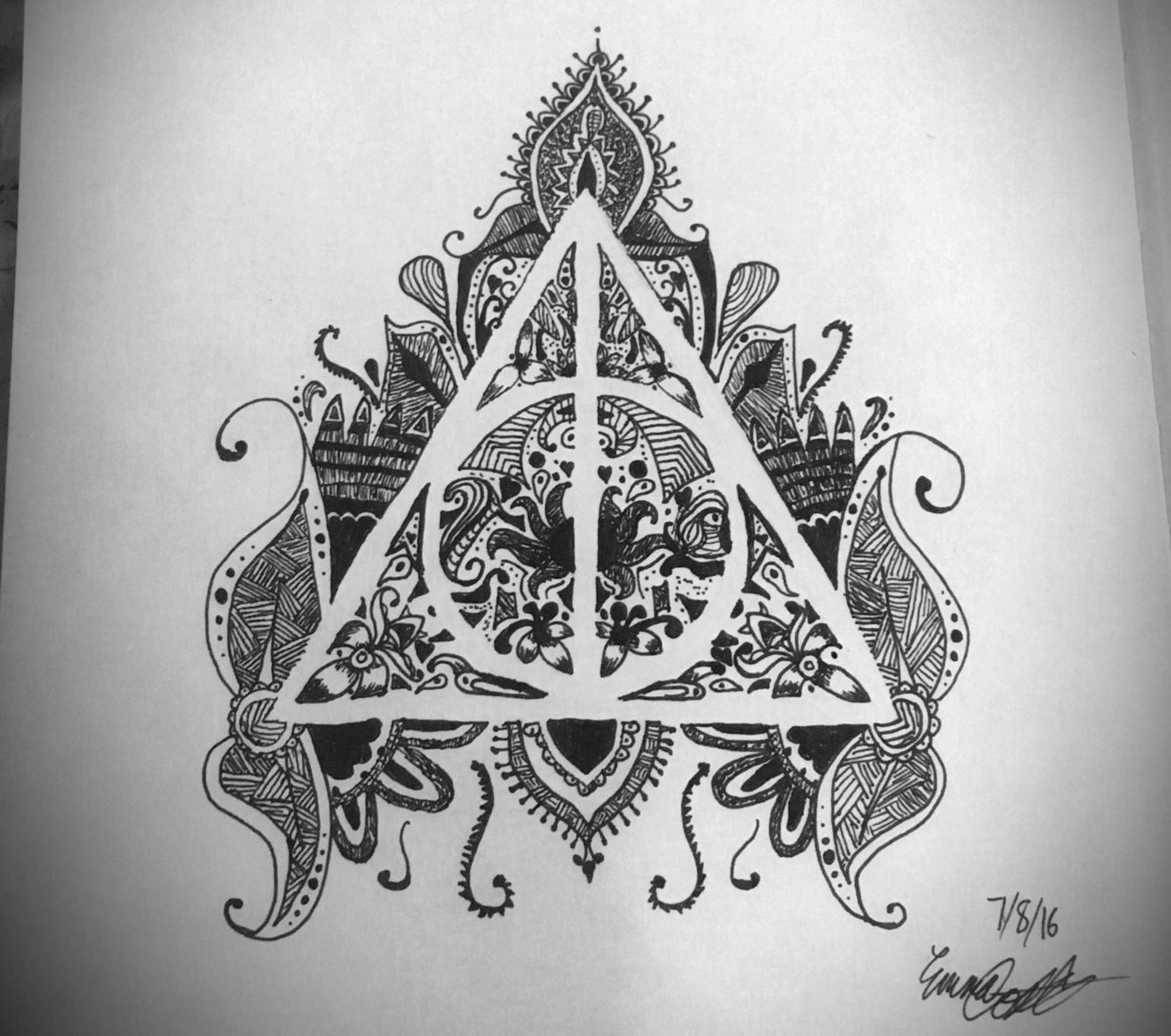 Deathly Hallows Art Pinterest Emcosta7777 Deathly Hallows Art Deathly Hallows Tattoo Triangle Tattoo