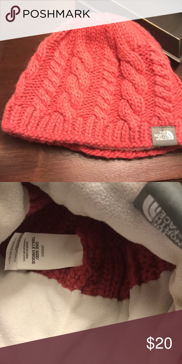 North Face women s fuzzy cable beanie Like new. Only wore a few times. No  snags in material. North Face Other 65c98ec998c