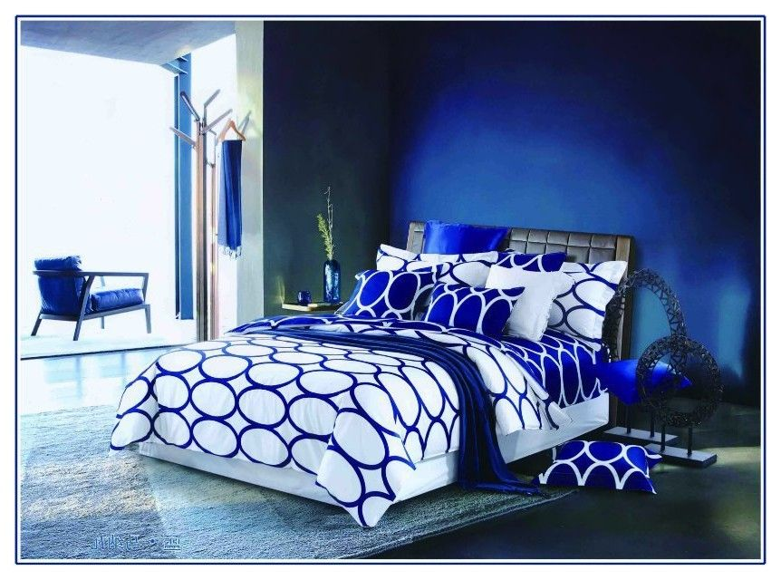 Royal Blue And White Bedding Google Search Royal Blue Bedrooms Blue Bedroom Blue Rooms