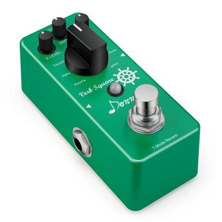 Donner Digital Reverb Guitar Effect Pedal Verb Square 7 Modes - Walmart.com #guitarpedals