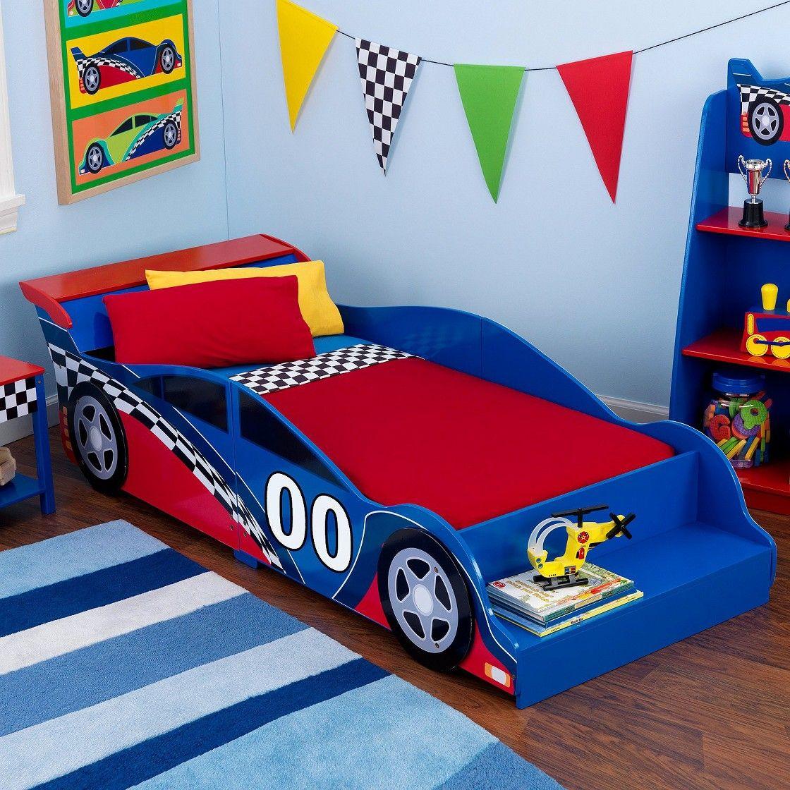 KidKraft Toddler Bed - Race Car   Toddler car bed, Car bed ...