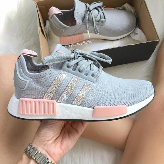 adidas nmd with rose patch