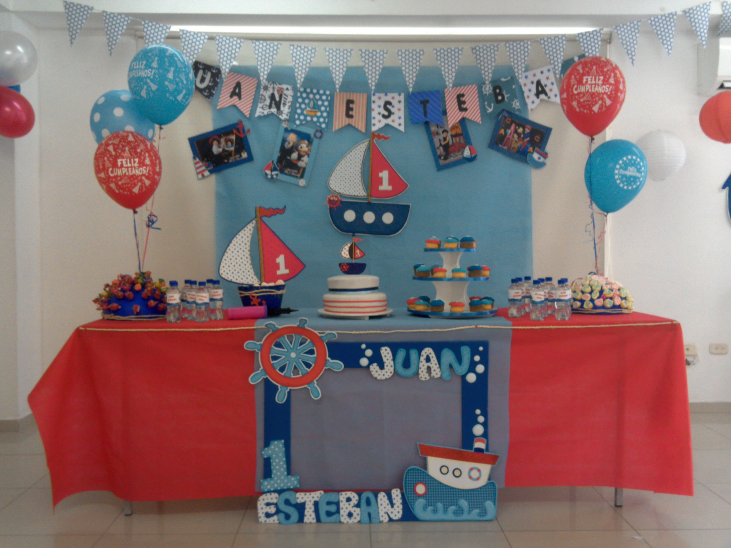 Fiesta De Marinero Cumpleaños Marinero Fiesta Marinera Decoracion De Cumpleaños
