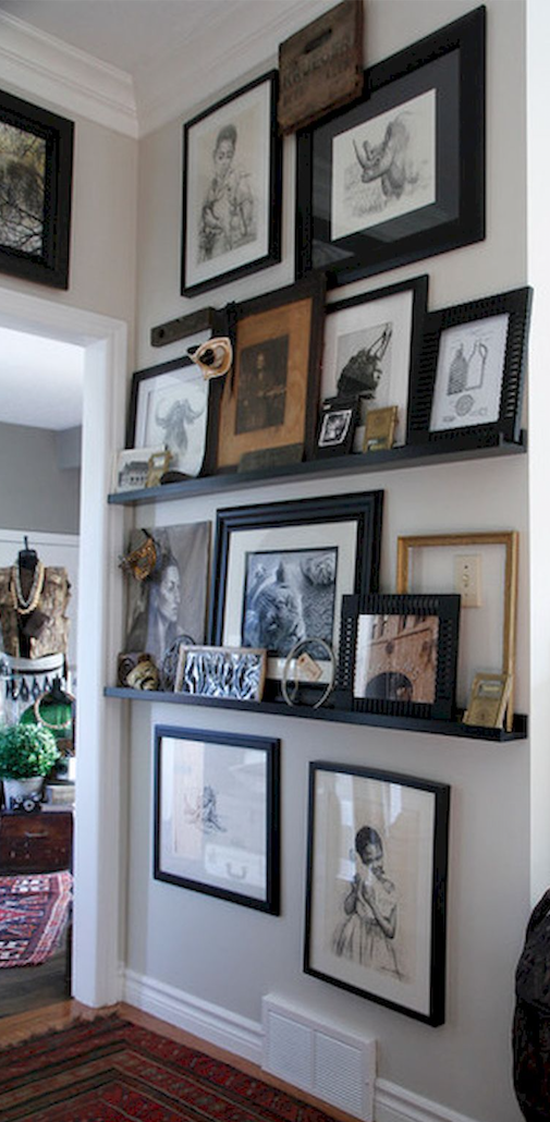 Floating Shelves Frames On Wall Picture Frame Wall Picture Gallery Wall