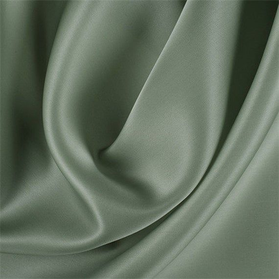 Dark Sage Silk Satin Organza, Fabric By The Yard -   16 sage green aesthetic ideas