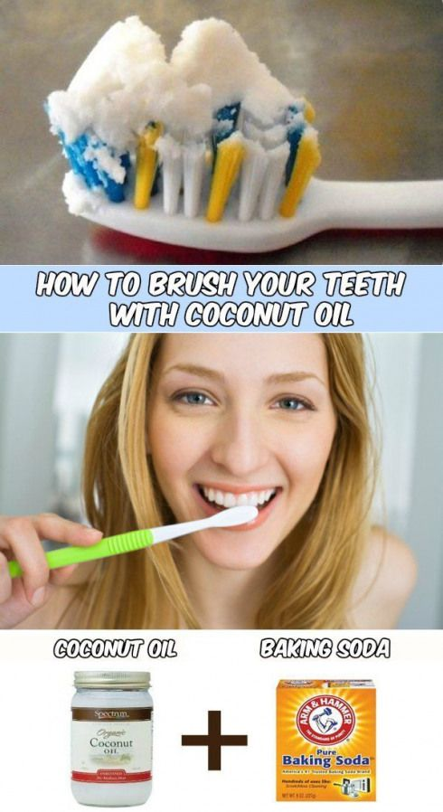 How to brush your teeth with coconut oil -