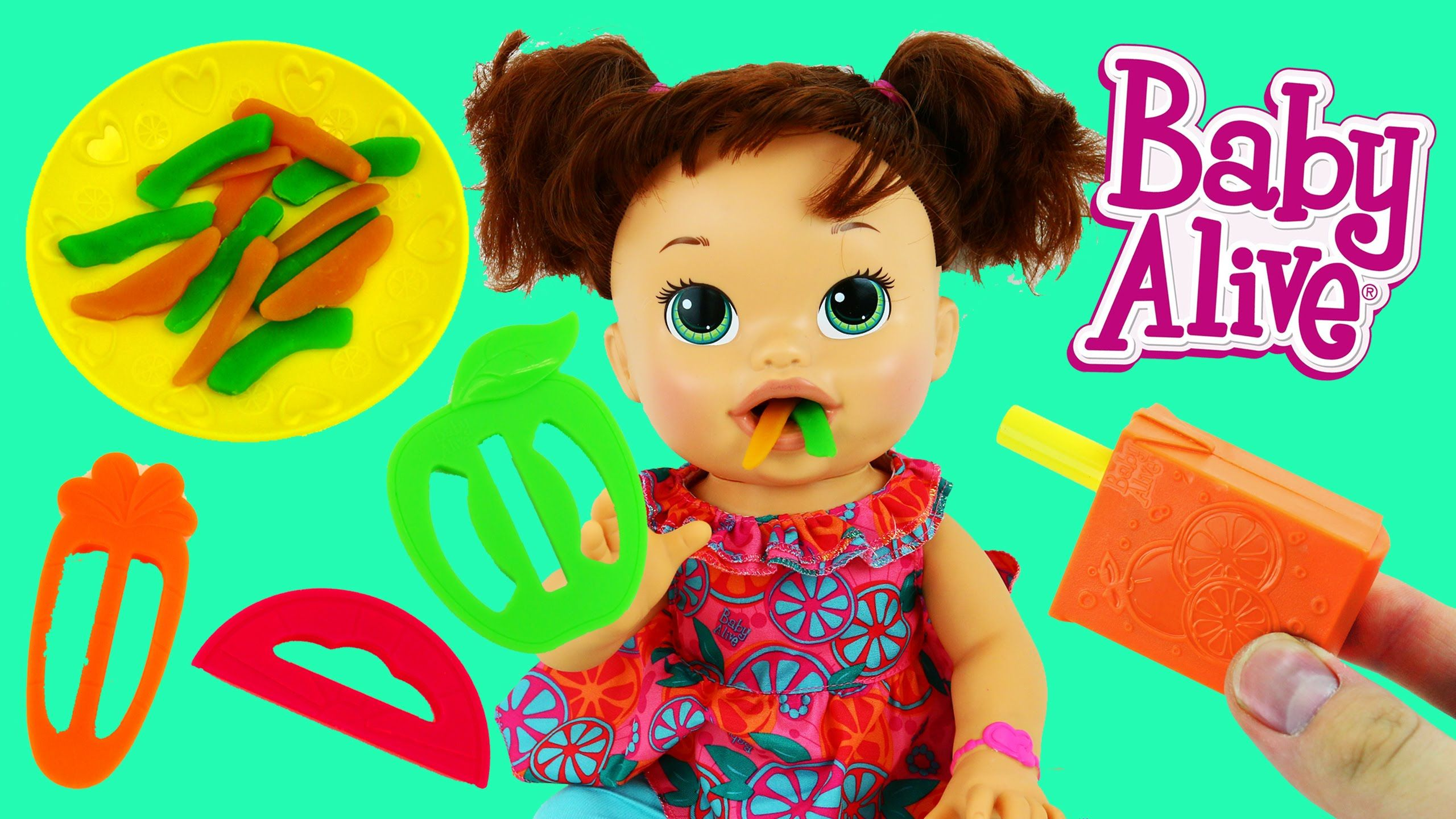 Baby Alive Eats Play Doh Super Snacks Snackin Brunette Doll Poops Pla Baby Alive Baby Alive Food Disney Cars Toys