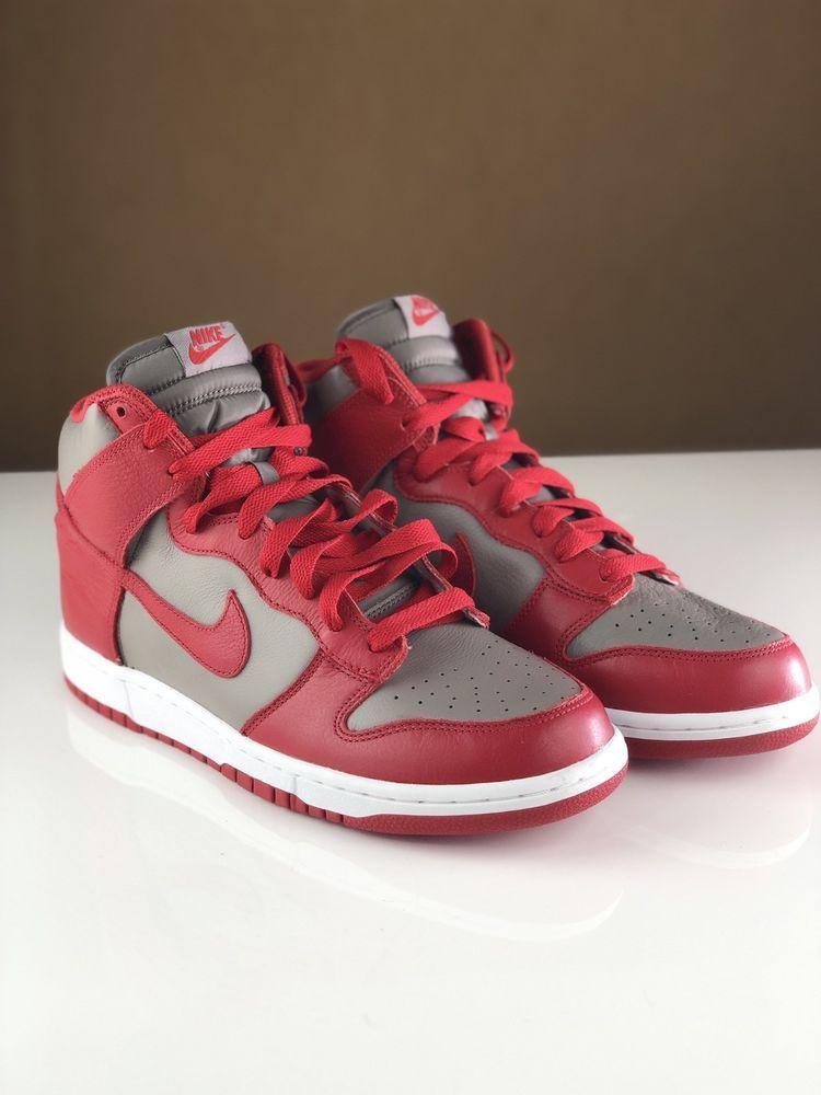 Nike Dunk High Retro Qs Size 10 Ohio State Osu Scarlet Grey Nike Basketballshoes Nike Dunks Nike Dunk High Nike