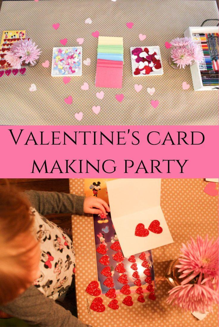 Superb Card Making Party Ideas Part - 5: Valentineu0027s Card Making Party Idea For Kids