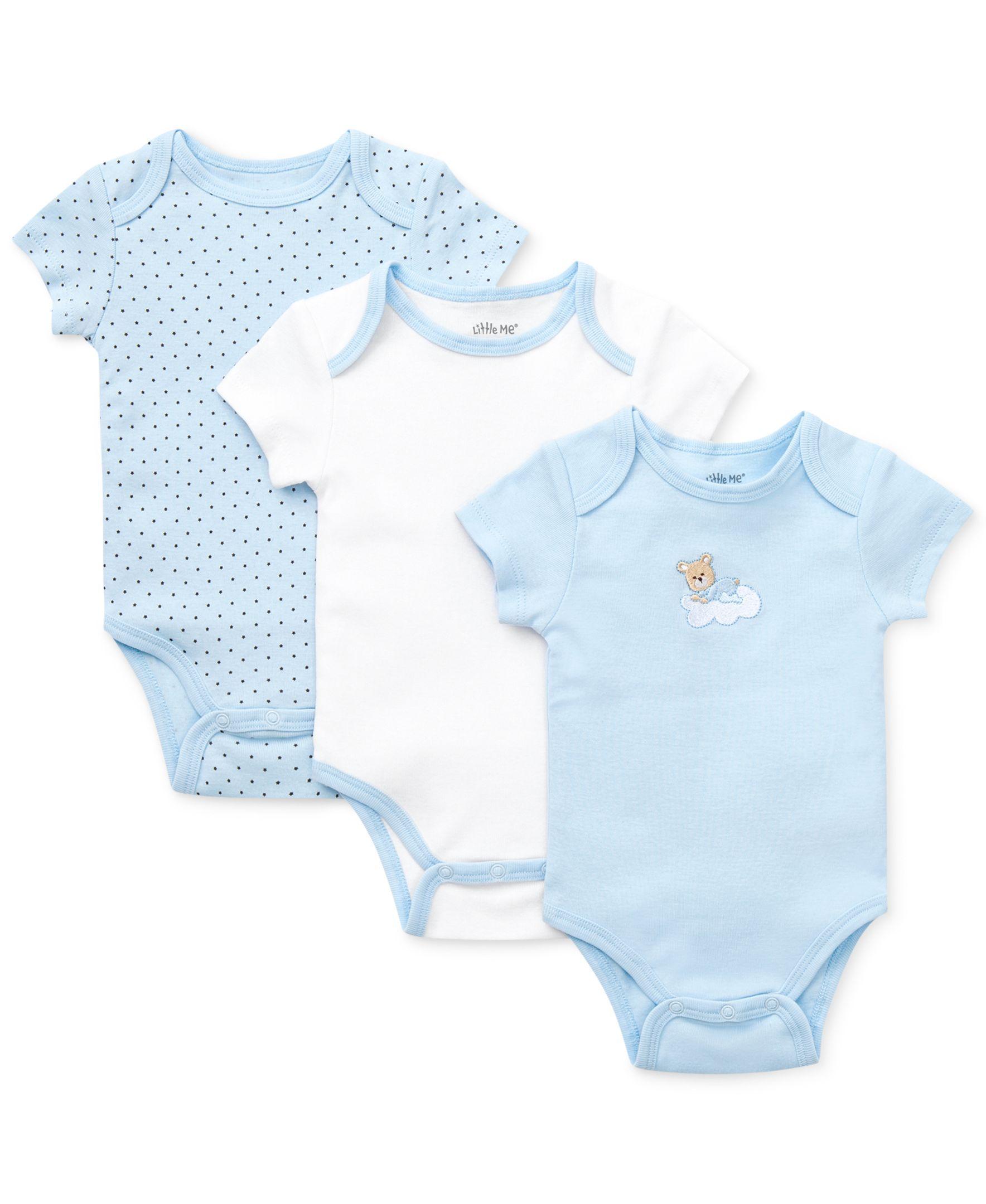 Little Me Baby Boys Sleepy 3 Pack Bodysuits