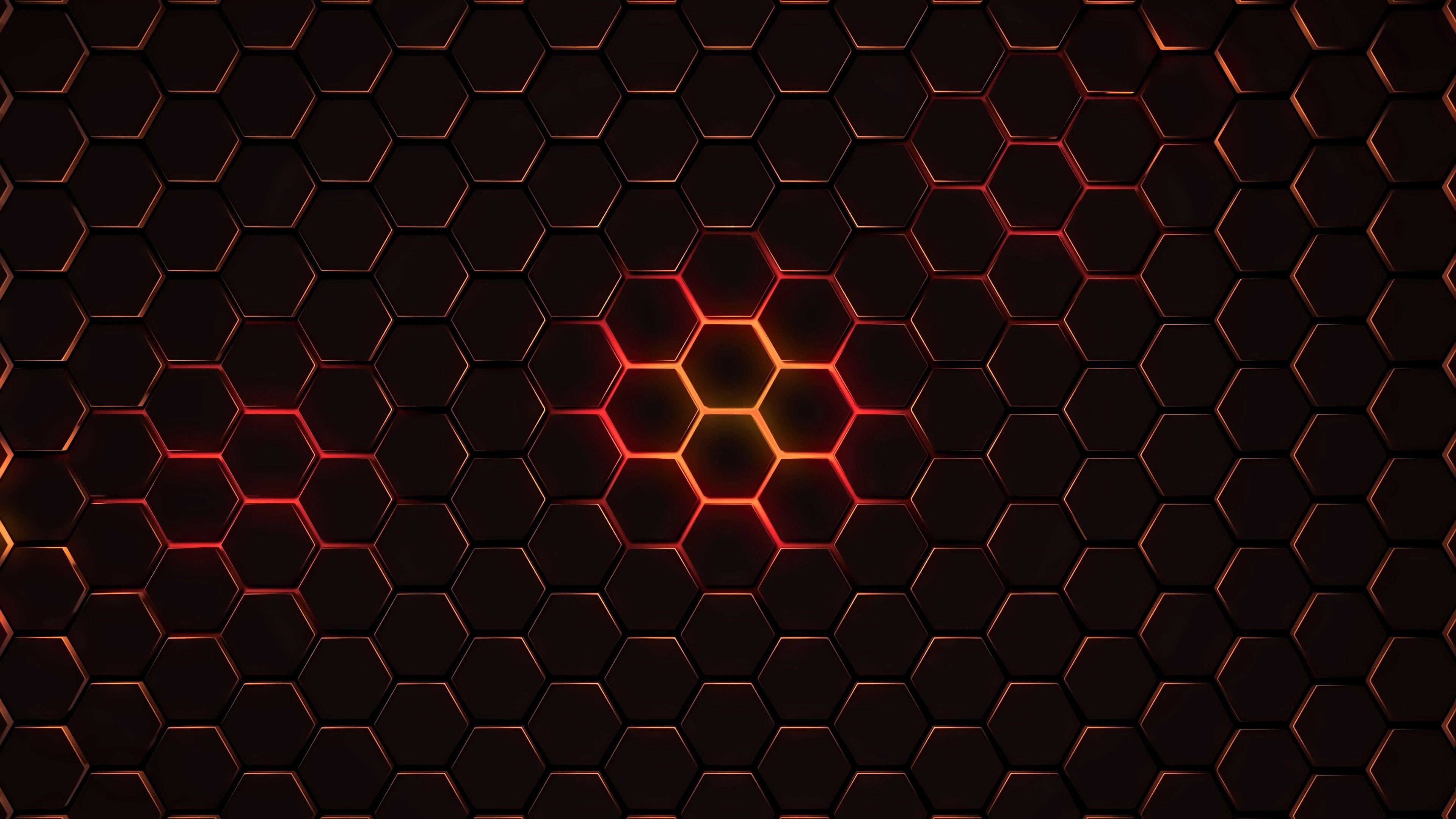 General 3840x2160 Abstract Hexagon Wallpaper Abstract Wallpaper