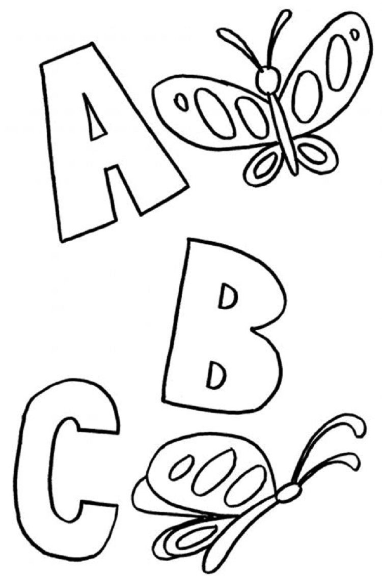 abc animal coloring pages | Coloring Pages For Kids | Pinterest