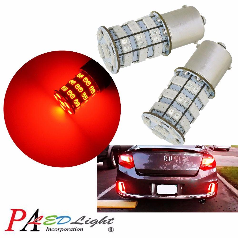 Pa Led 2 X 55smd 2835 5630 Led Bulbs 1156 Ba15s Color Red 12v Turn Signal 4 5 Watt Dome Lighting Led Bulb Car Lights