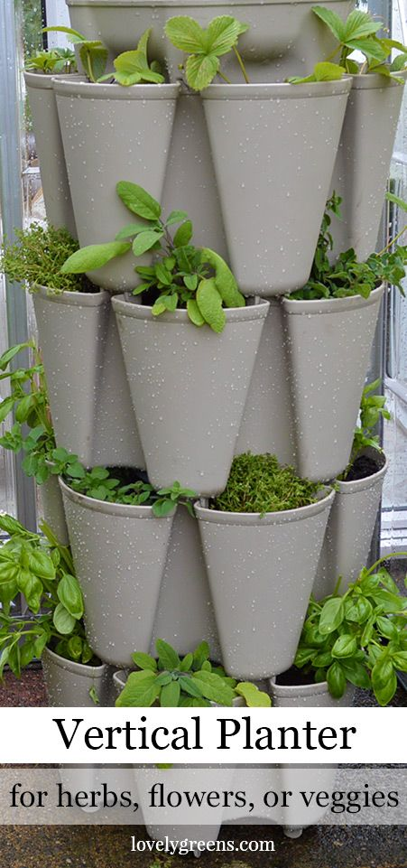 Wonderful Grow A Vertical Herb Garden In A Greenstalk Stackable Planter Good Ideas