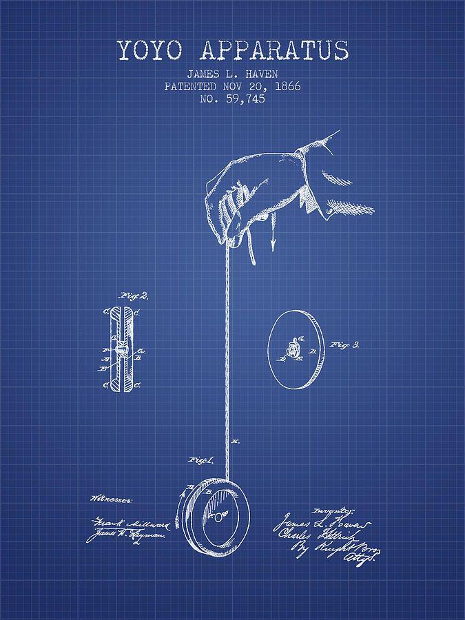 Yoyo patent from 1866 blueprint aged pixelg 675900 p yoyo patent from 1866 blueprint aged pixelg 675 malvernweather Images
