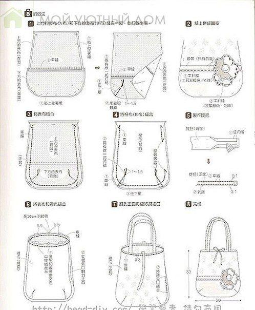 como hacer bolsos para dama con patrones