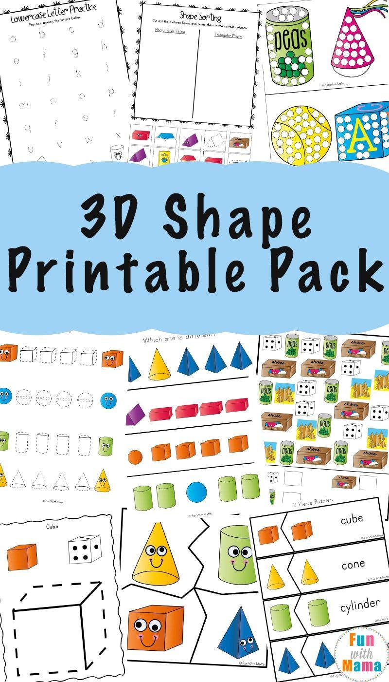 3d Shape Worksheets Shapes Worksheet Kindergarten 3d Shapes Worksheets Shapes Kindergarten [ 1400 x 800 Pixel ]