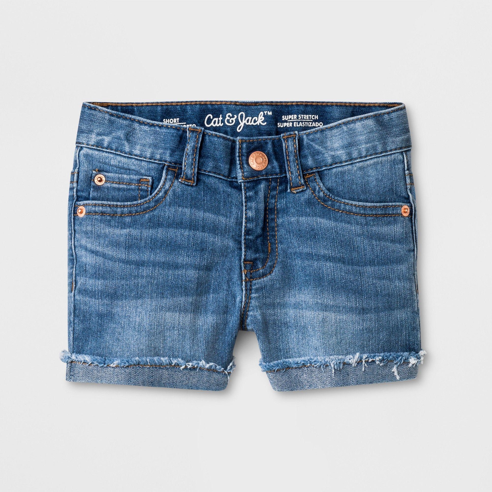 c17903959 Toddler Girls' Jean Shorts - Cat & Jack Medium Wash 3T, Blue in 2019 ...