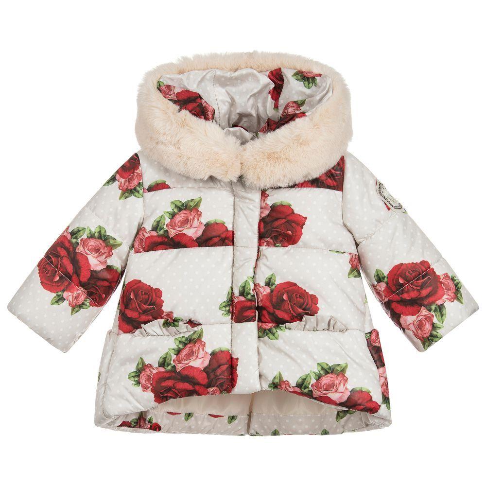 5ce433d09 Baby Girls Rose Print Coat