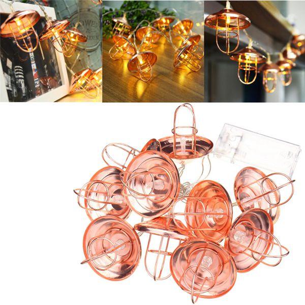 Battery Powered 10LEDs Vintage Lantern Shaped outdoor Warm White