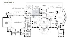 First Floor Plan Of 1 Frick Drive 30 000 Square Feet Mansion Floor Plan Stone Mansion Floor Plans