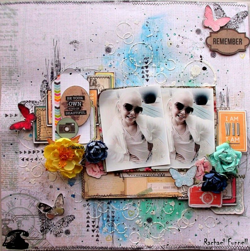 #papercraft #scrapbook #layout. Mid month reveal for August challenge over @ Scrap Around The World - Rachael Funnell...