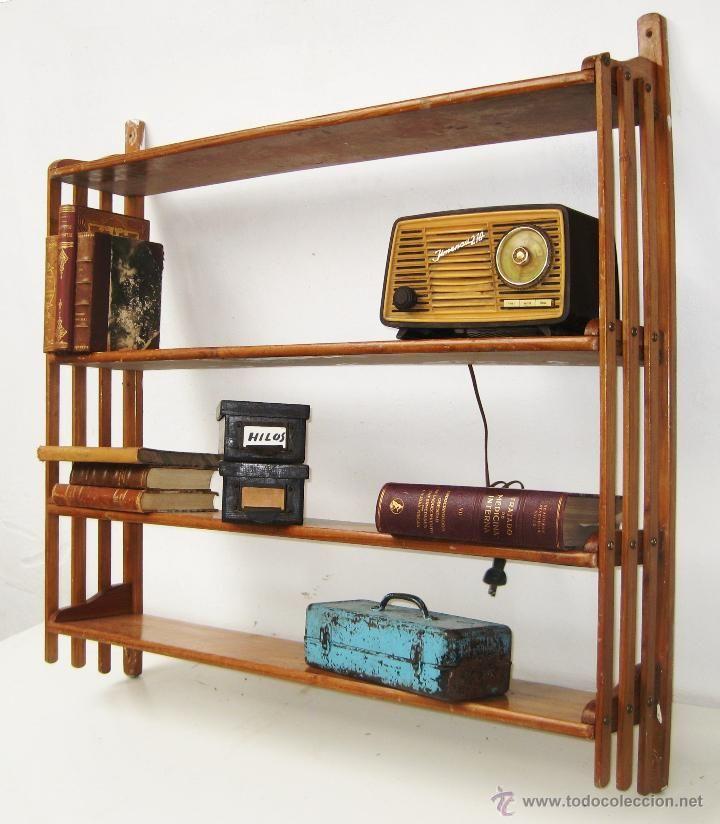 Estanter a antigua en madera 1m x 1m 239 estanter as - Como hacer estanterias de madera ...