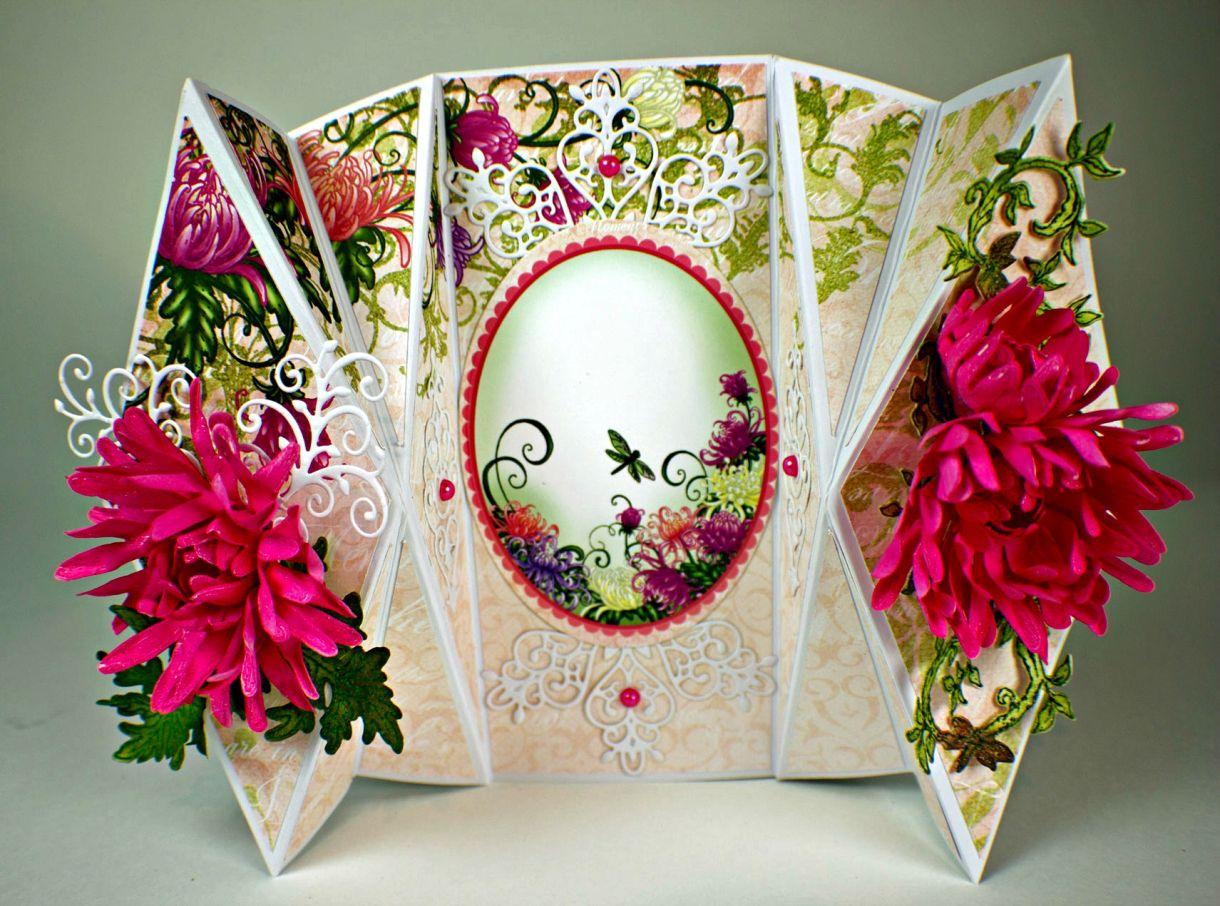 Enchanted Mum Double Diamond Fold Fancy Fold Cards Fancy Folds Fun Fold Cards