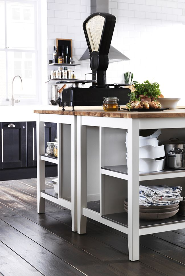 Love the colours of this kitchen especially the butcher block island house pinterest - Butcher block kitchen island ikea ...