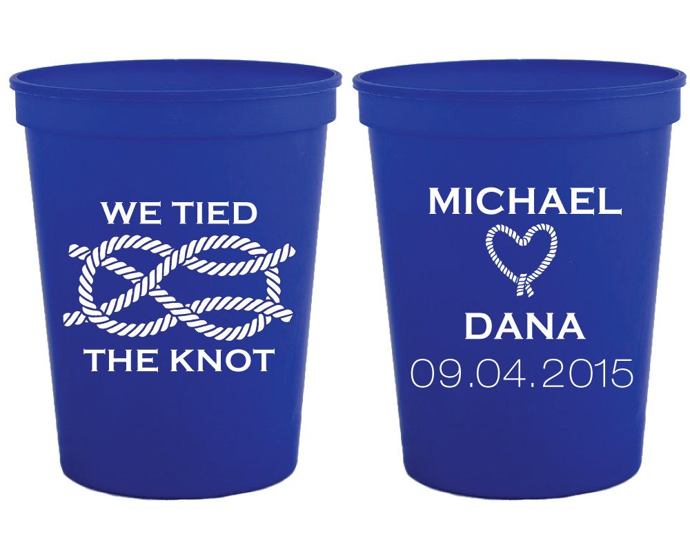 We Tied The Knot Wedding Favors Personalized Cups Party Custom Plastic Favor Shower Cup 1118