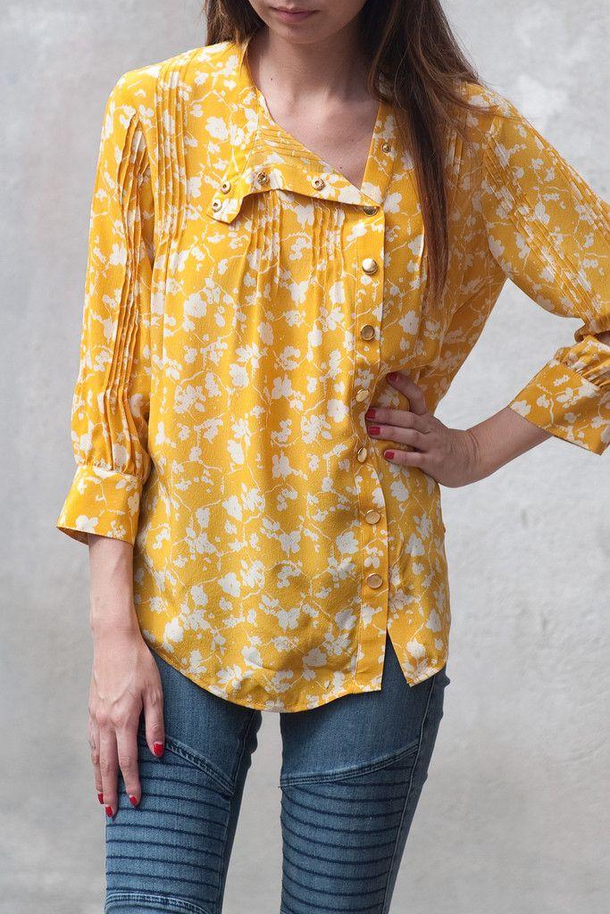 dc8193cc2b348 Lauren Moffatt | Snapdragon Pintuck Top. $273, silk, dry-clean only ...