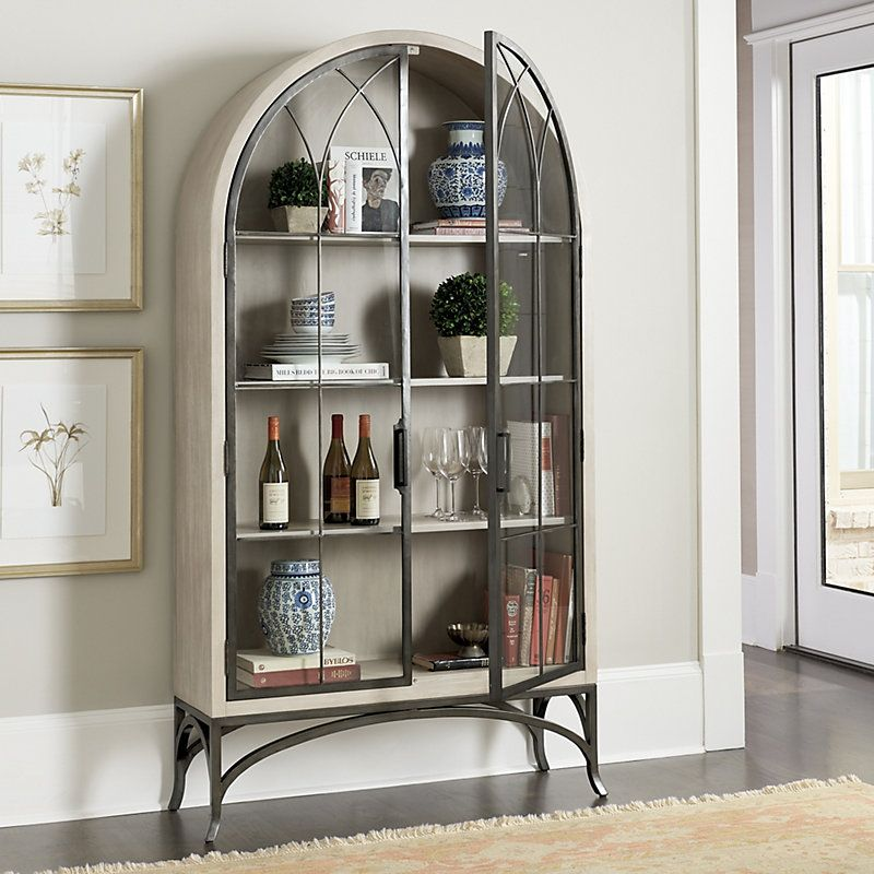 Aris Glass Door Cabinet Glass Cabinet Doors Furniture Home Decor Living room cabinets with glass doors