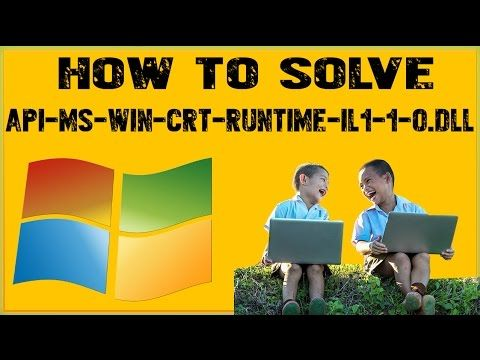How To Fix Api Ms Win Crt Runtime L1 1 0 Dll On Windows 7