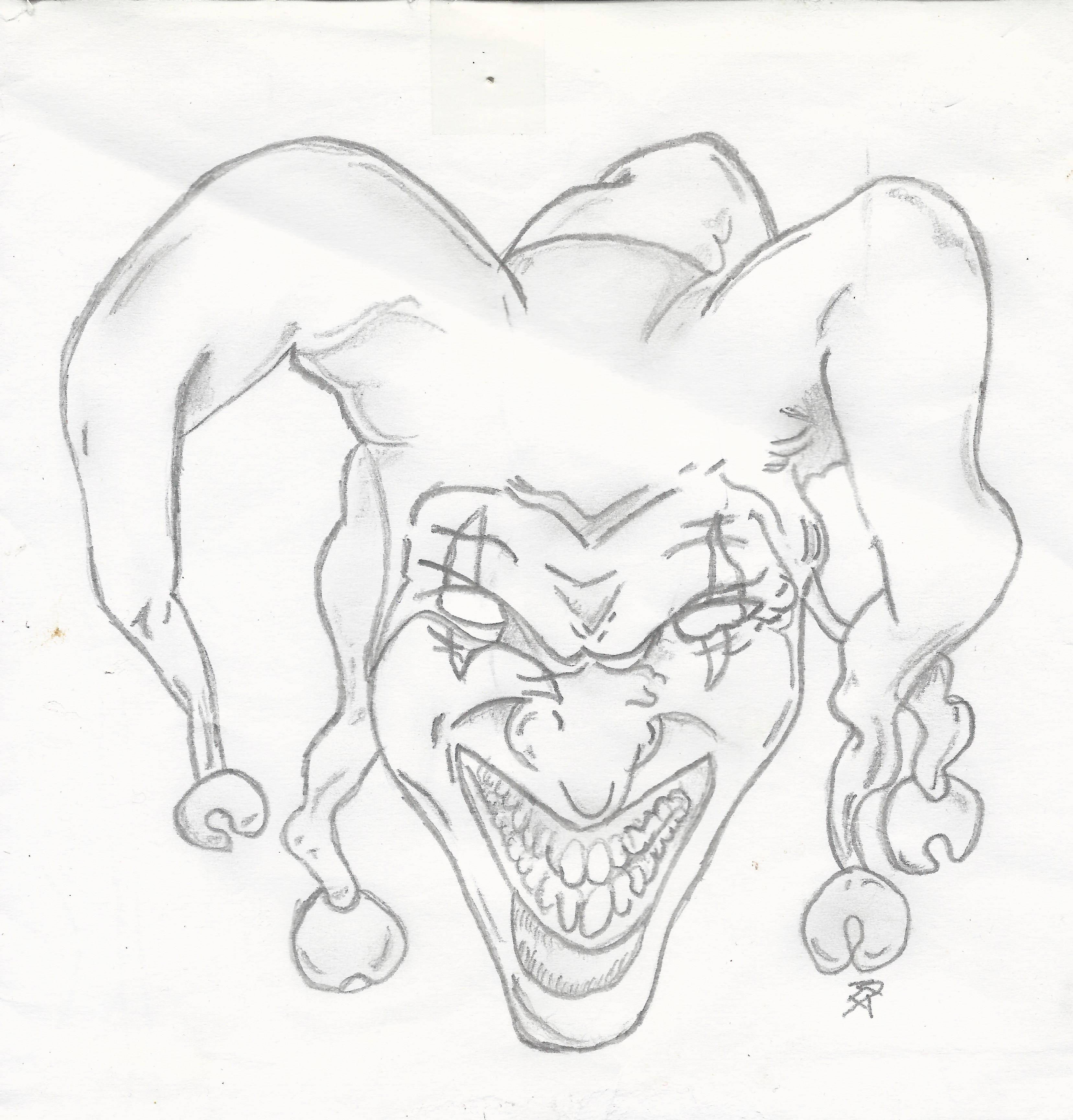 harlekin, Narr drawing  Bleistiftzeichnung, Zeichnung, Drawing