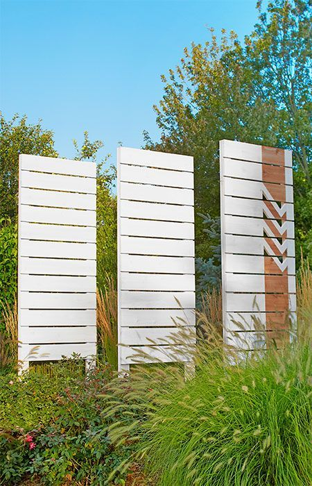 Simple Straight Cuts And Whitewash Give These Screens A Graphic Touch. Outdoor  Privacy ...