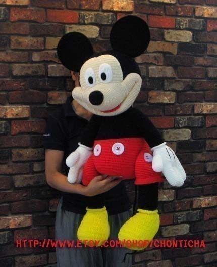 Mickey Mouse 35 inches - PDF amigurumi crochet pattern   Pinterest ...
