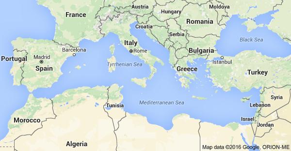 Map of Mediterranean Sea | cruises | Pinterest | Mediterranean sea ...