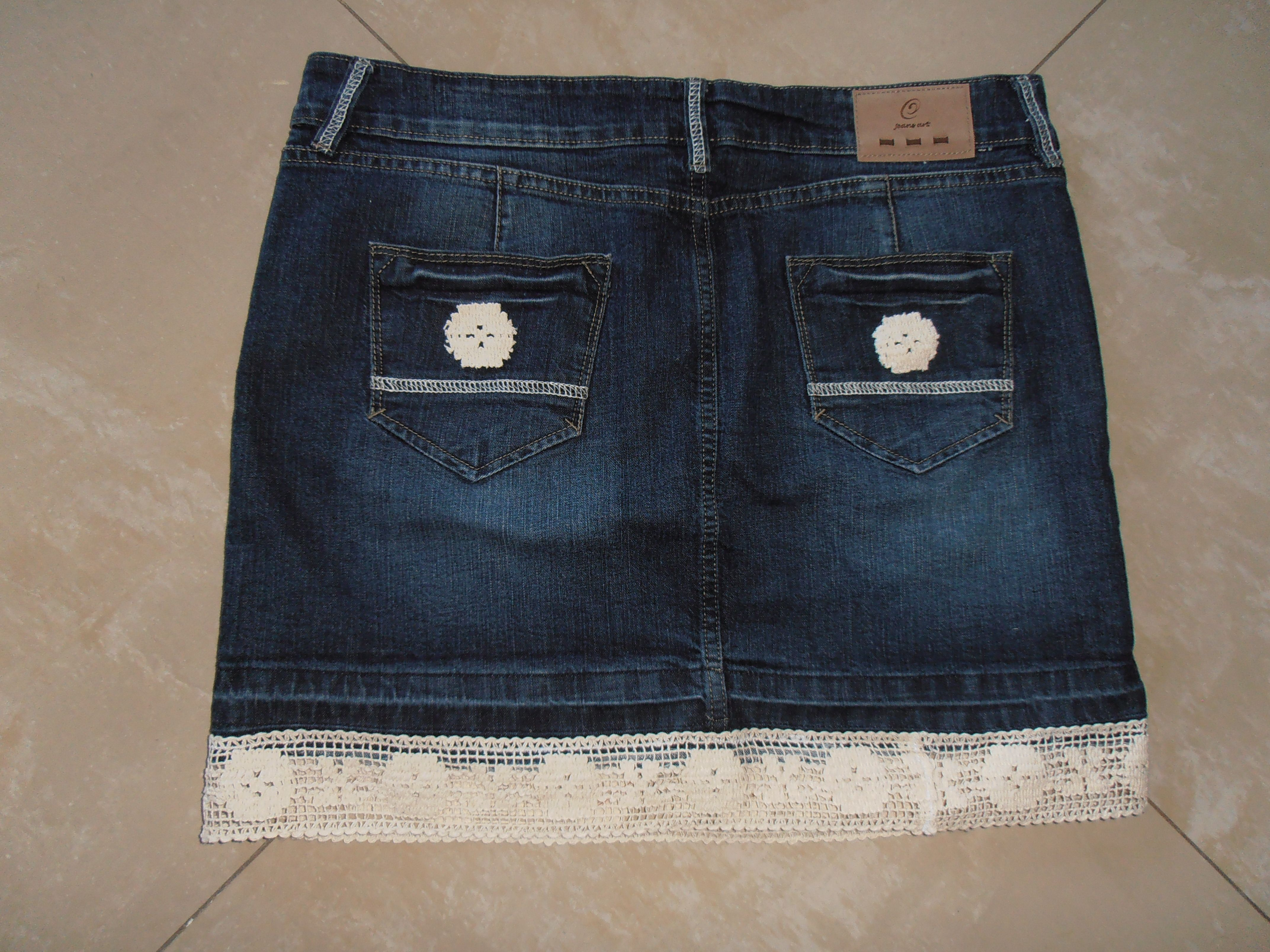 A new jean skirt with the perfect length!