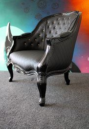 Miss Lolo's last ever re-loved chair is the insanely beautiful, yet dark Miss Skull Duggery.