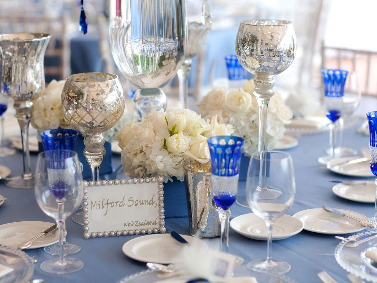white+and+cobalt+blue+wedding+reception | Cobalt Blue And Black ...