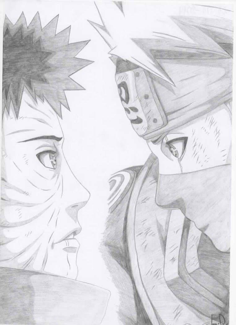 Obito I Kakashi By Antylopa Desenhos De Anime Desenhos Pra Desenhar