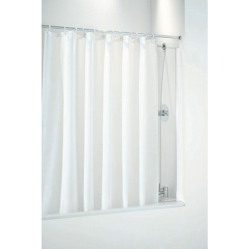 Coram 250mm Shower Curtain Screen At Victorian Plumbing Co Uk Now Shower Curtain Frameless Shower Curtains